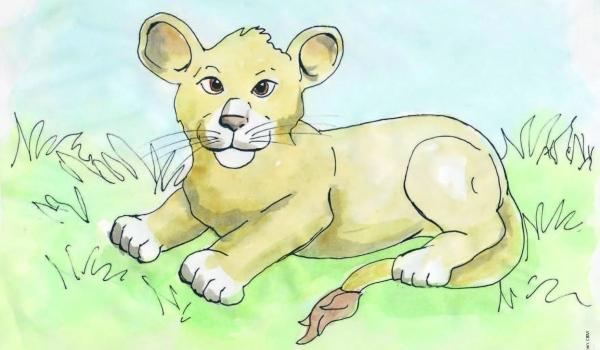 Gezeichneter Löwe