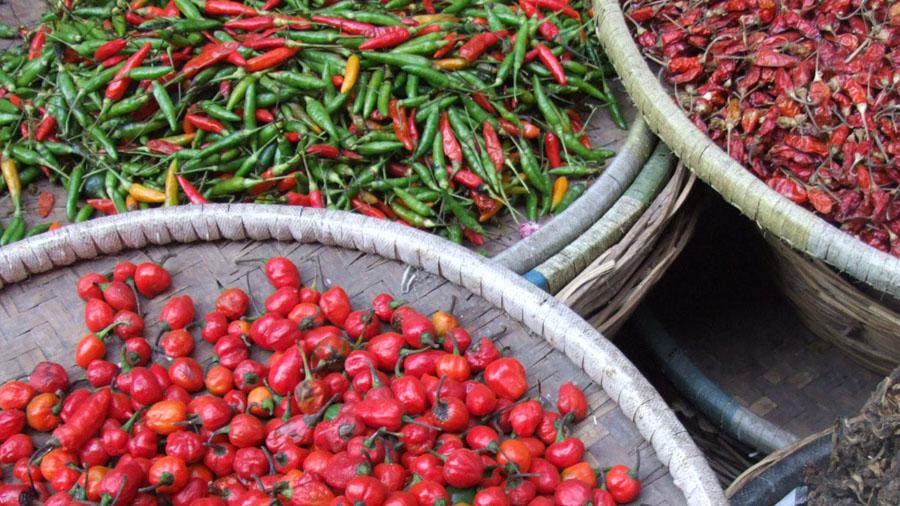 Gewürze auf einem Markt