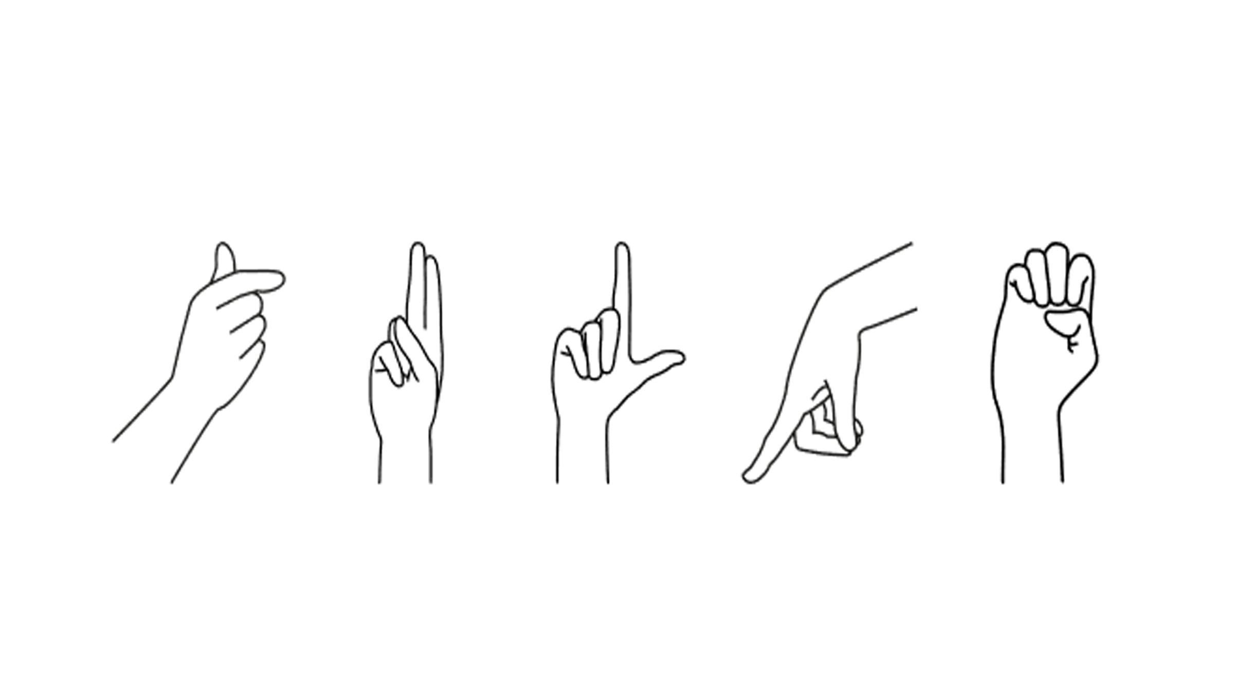 Zeichen des Fingeralphabets