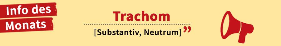 Info des Monats: Trachom